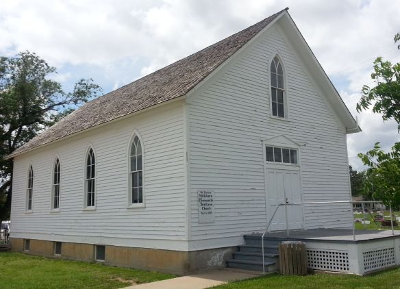 Historic Hillsboro MB Church, first in N.A., exterior. Photo by Richard Thiessen