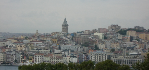 This is a view of Istanbul from Topakapi Palace, and I think the reason I especially like it is because it's not a very good photo, technically, but for that reason it looks kind of painterly and (to me) magical and mysterious.