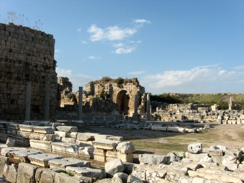 Perge. Because we really did see a lot of evacations and ruins of earlier civilizations.