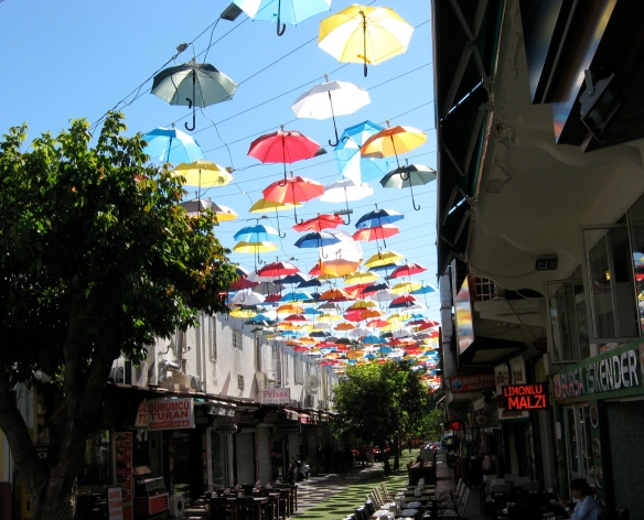 Because this street scene in Antalya is so pretty, and the weather was so nice, and it was a leisurely, happy day.