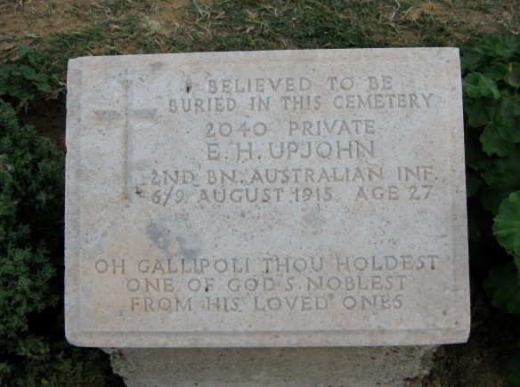 Because the war memorials at Gallipoli -- both Turkish and Anzac -- were emotional (feelings of both sadness and anger) and I'm always interested in what families chose as epitaphs.
